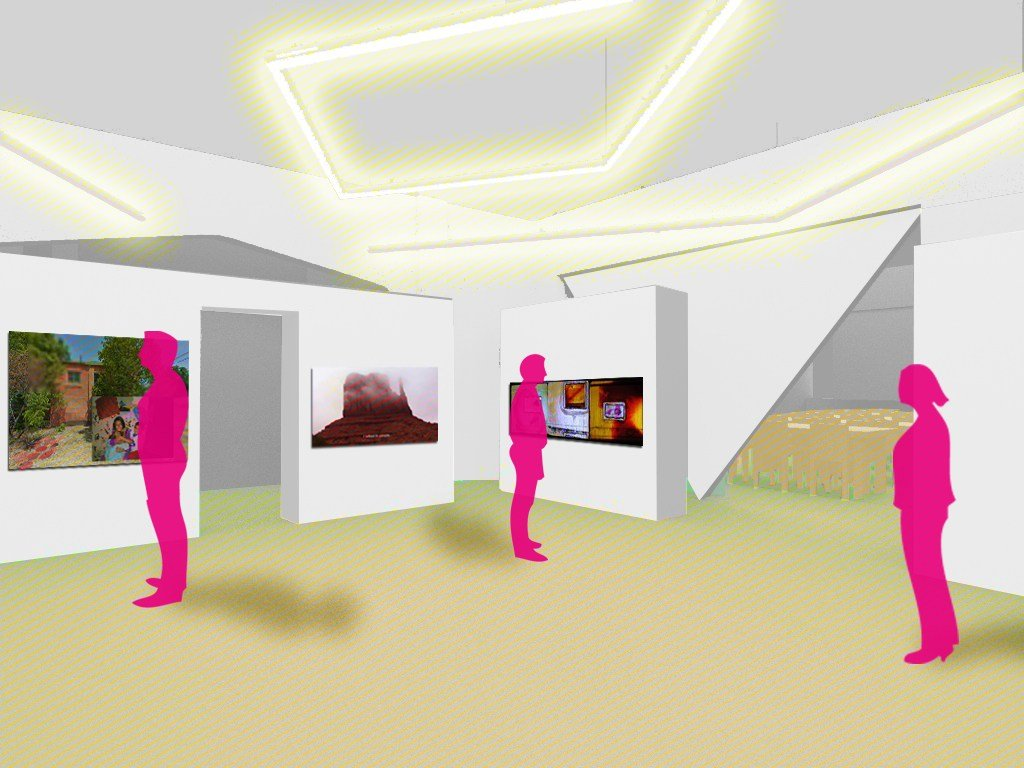 A rendering from A Squared Architectural Design of the gallery interior of ACRE's new facility