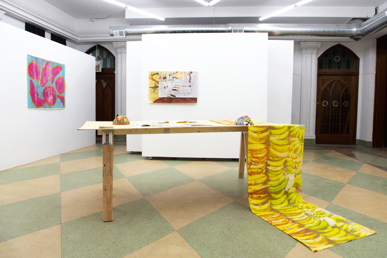 "Documentation of work as installed in the exhibition ""Stranger Than Paradise"" at ACRE Projects Gallery"